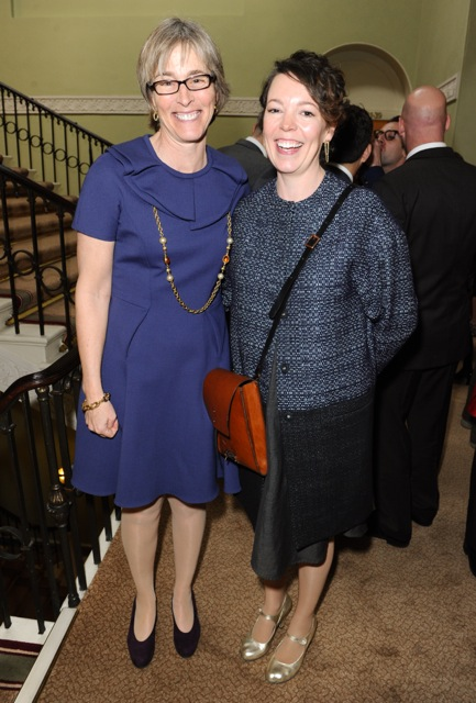 Kate with Olivia Colman, best actress winner for Broadchurch (ITV)