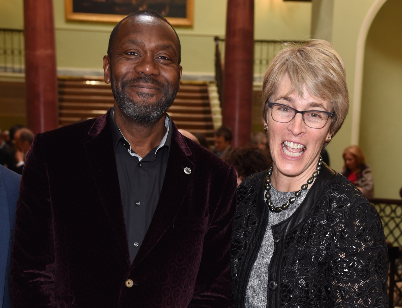 Kate with Lenny Henry