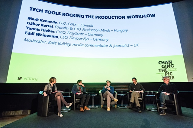 Kate runs panel on Tech Tools Rocking the Production Workflow at Changing the Picture Summit in Berlin November 2014