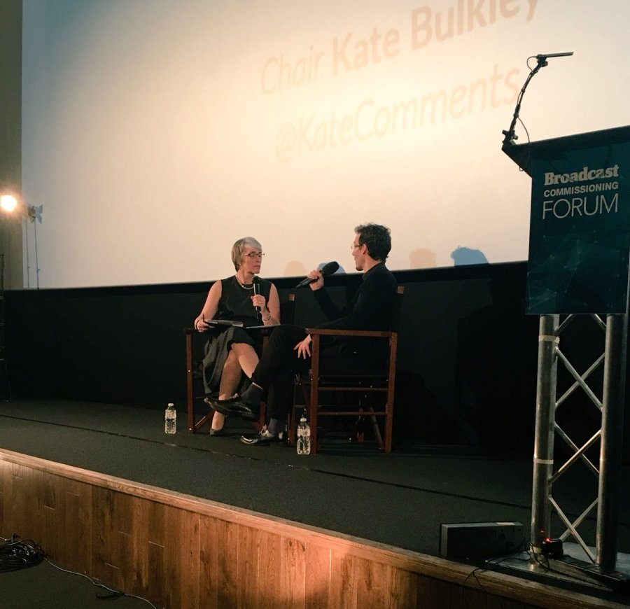 Kate interviewed Director of Commissioning at UKTV Richard Watsham at the London Picture House on November 3 2016 as part of the Broadcast Commissioning Forum