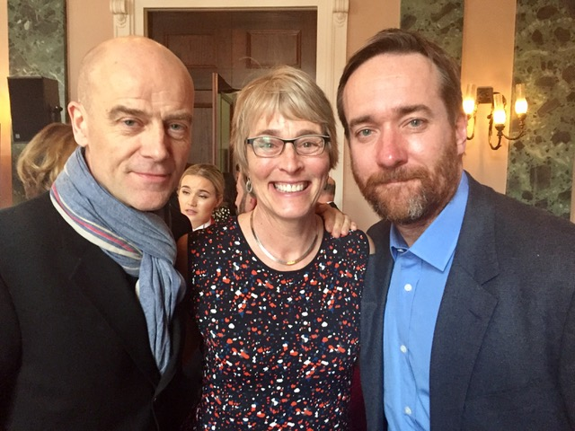 Kate with Pip Torrens from The Crown and Matthew Macfadyen from Ripper Street