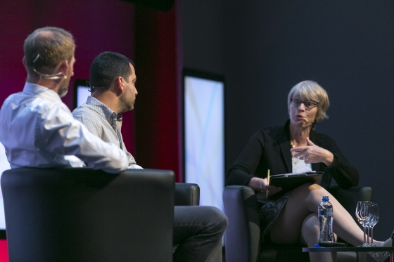 Kim Poder, EVP and CEO Modern Times Group Denmark, Daniel Danker,  Product Director of Facebook and Kate Bulkley