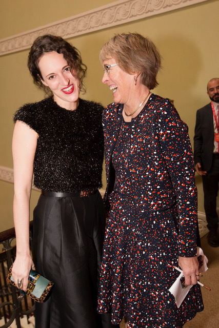 With Phoebe Waller-Bridge star of Fleabag