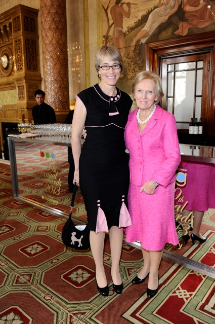 Kate with Mary Berry, winner of Best Factual programme The Great British Bakeoff