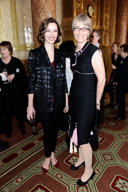 Kate with Rebecca Hall, winner of Best Actress for Parade's End