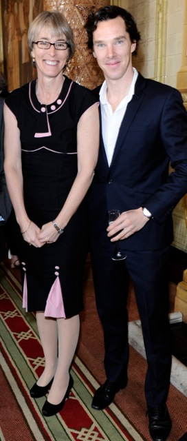 Kate with Benedict Cumberbatch, winner of Best Actor for Sherlock and Parade's End