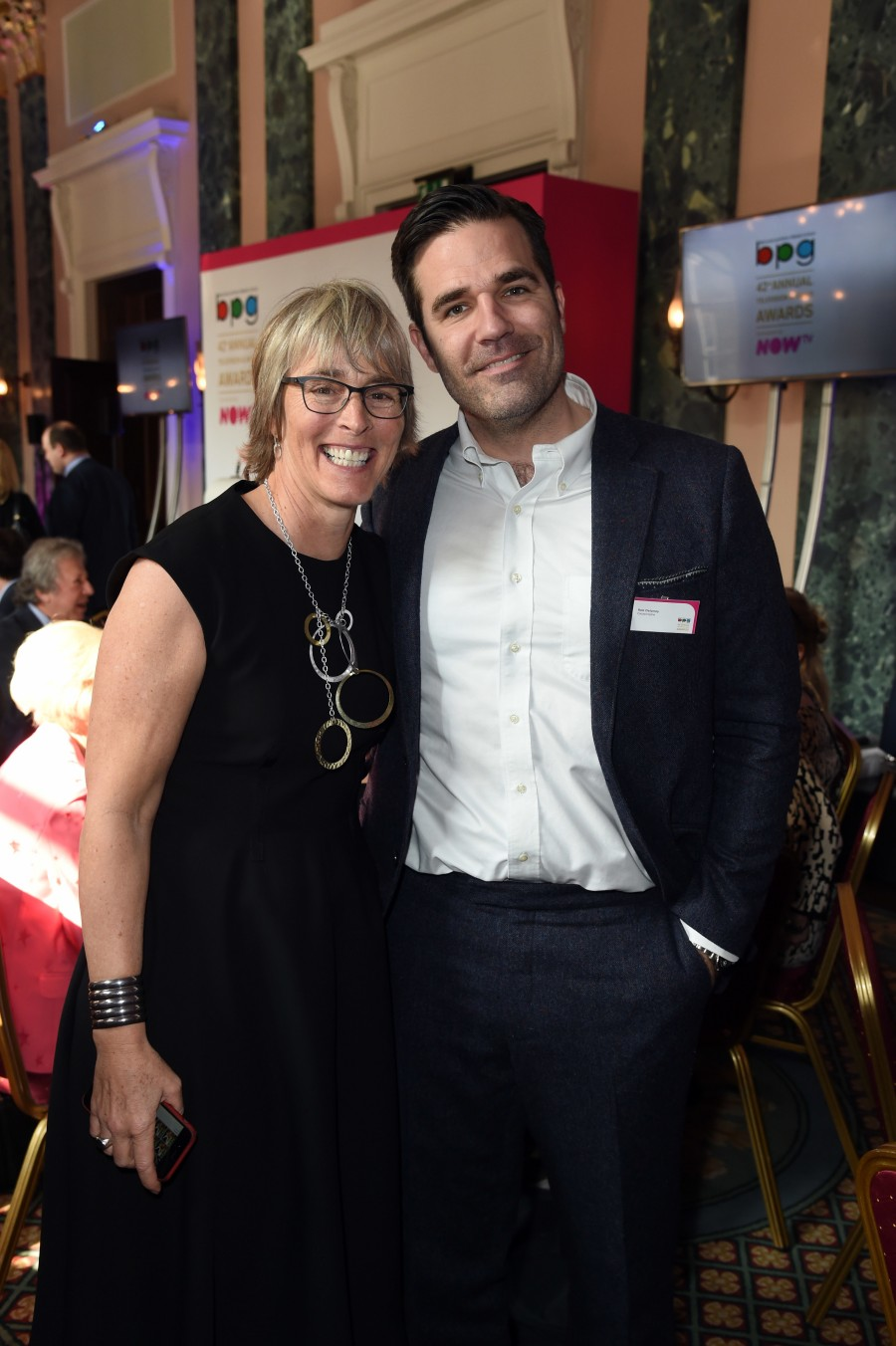 BPG Awards March 2016. Kate with Rob Delaney, writer and star of Catastrophe on Channel 4 and Amazon Prime Video