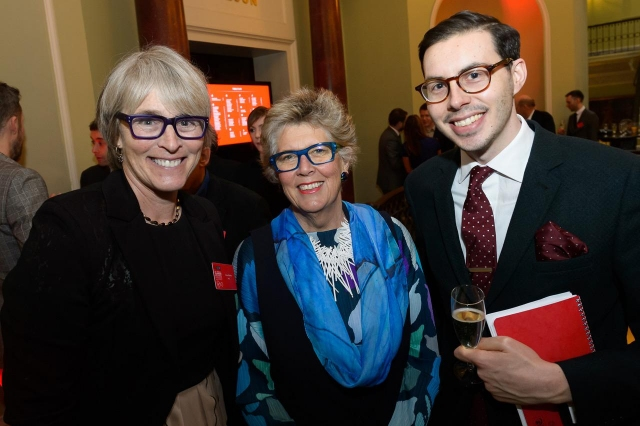 Kate, Prue Leith (Judge on the Great British Bake Off) and Jake Kanter, Business Insider