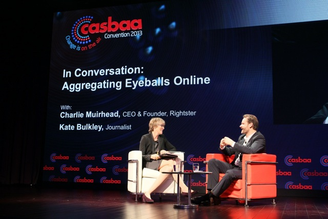 Kate with Charlie Muirhead, CEO & Founder, Rightster