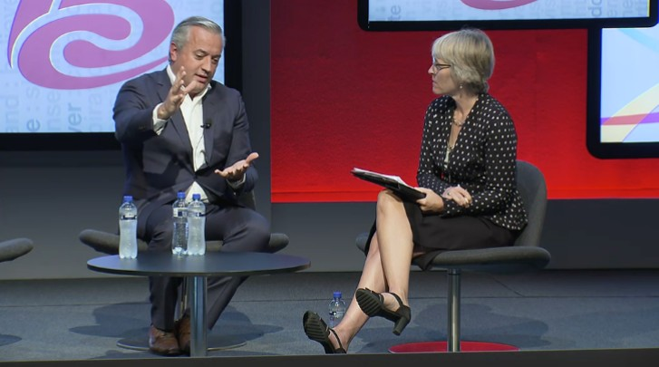 Dominique Delport, MD Havas Global and Chairman Vivendi Content with Kate at IBC 2016