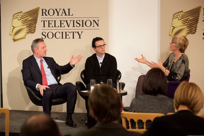 Kate moderated a session pitting Channel 4 CEO David Abraham and Virgin Media CEO Tom Mockridge (far left) at the RTS event December 8 2014 at the Hospital Club.
