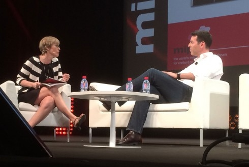 Kate interviews Jan Frouman Group managing director of Red Arrow Entertainment at MIPTV 2014