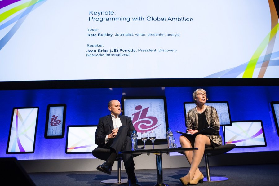 Kate interviews JB Perrette President of Discovery Networks International at IBC 2015 September 11 2015